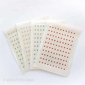 Element Kristalpunctuur aanvulset. Vel met 100 kristallen in één kleur.