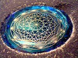 Kristallen binnen de kleurenpunctuur