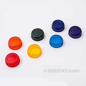 Set van zeven schijfjes spectraalkleuren. Rood, oranje, geel, groen, spectraal turquoise, blauw en violet